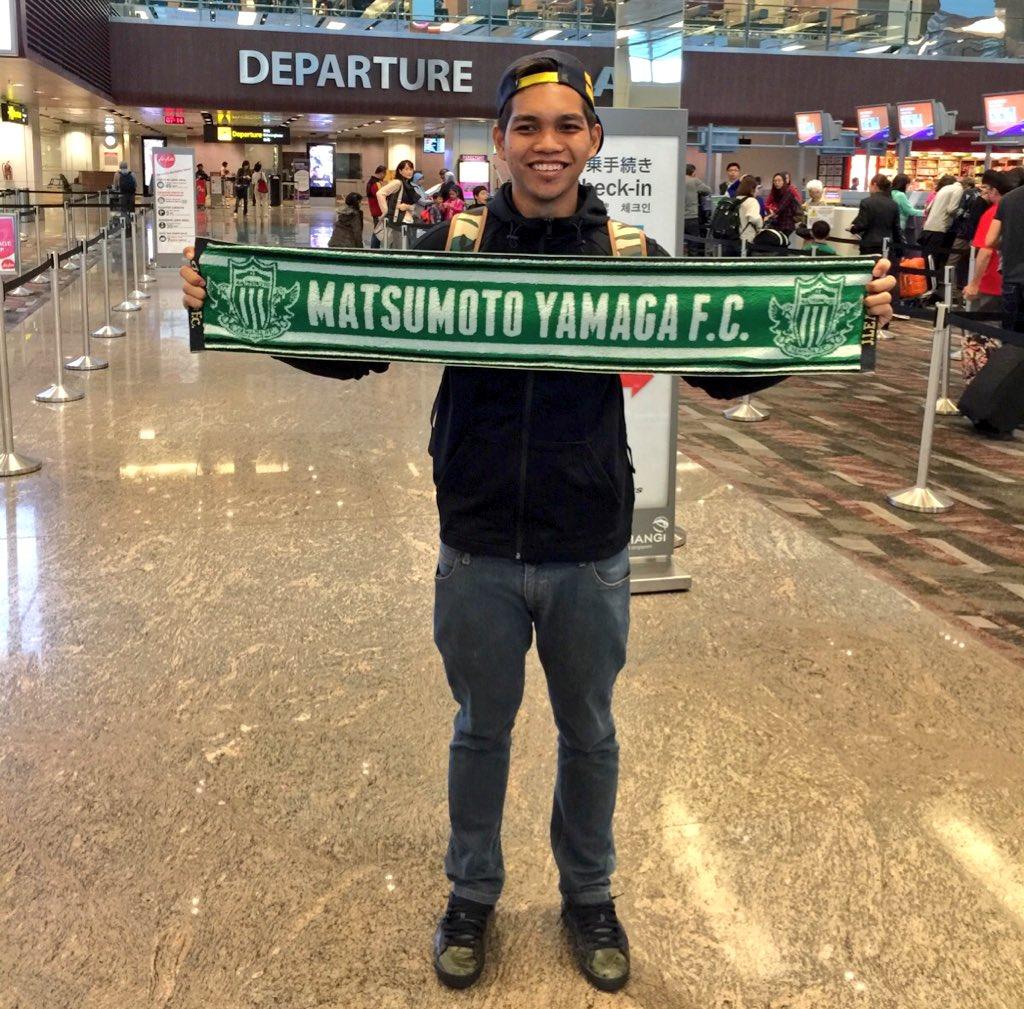 松本山雅の練習に参加するため、日本へ飛び立つシンガポール代表GKイズワン選手 RT @STsportsdesk All the best @izwan_mahbud for your trial at @yamagafc! https://t.co/nbKTtS4zzP