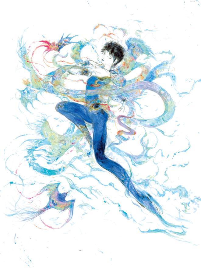 羽生結弦選手のイメージ画公開。作者は『陰陽師』CDジャケットを描いた天野喜孝 https://t.co/dft8ywQezG #羽生結弦 #SEIMEI #天野喜孝