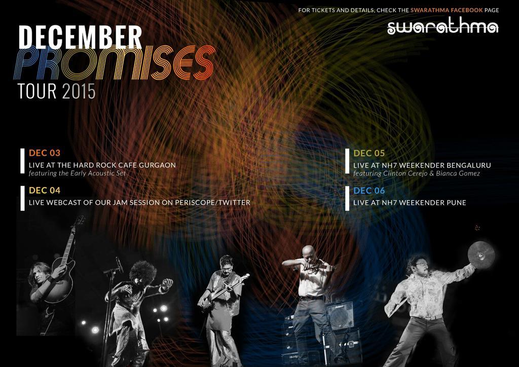 Limbering up for the December Promises Tour!   @HRCIndia @NH7 @ClintonCerejo @binkybee https://t.co/j0MKjh3sR3
