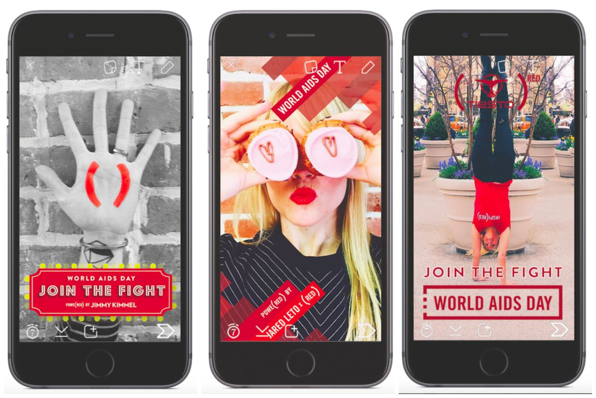 RT @TheNextWeb: Snapchat launches a special (RED) filter to raise $3 for every snap sent on World AIDS Day https://t.co/pk0ui6RJRv https://…