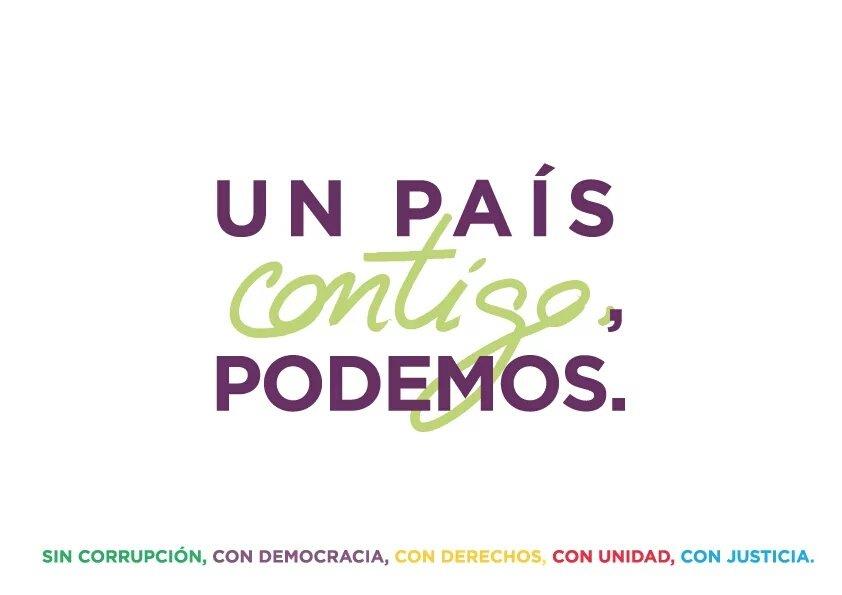Lema de Podemos.