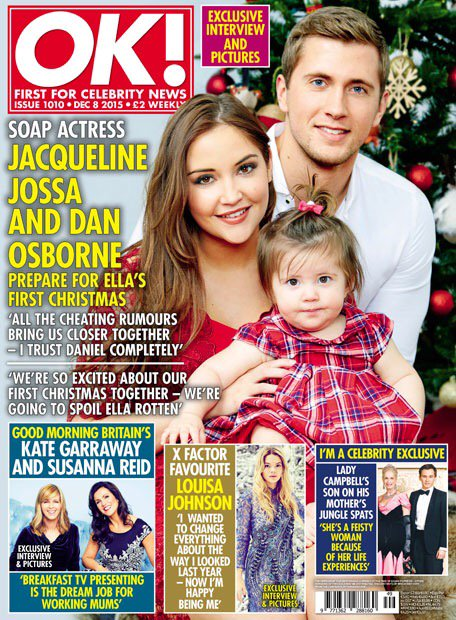 RT @Force1Mgmt: Out today is @DannyO & @jacquelineMjos @OK_Magazine Christmas cover shoot & interview. #BabyElla1stXmas https://t.co/riCfii…
