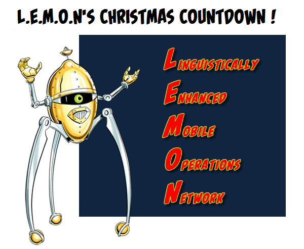 RT @Strangeness_in: Time for L.E.M.O.N's CHRISTMAS COUNTDOWN! https://t.co/Cr0rsrppsJ  @RufusHound @DoonMackichan @Sophie_Aldred https://t.…