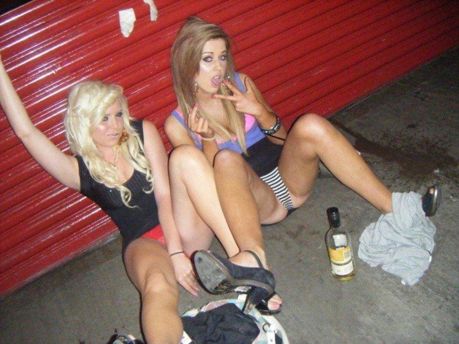 Drunk british slags
