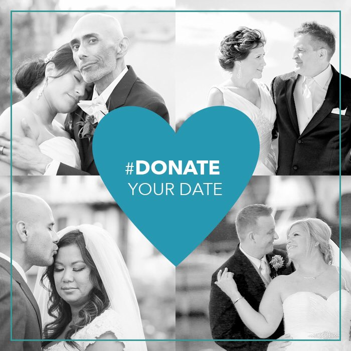 "#DonateYourDate on this #GivingTuesday! Help amazing couples get one steps closer to ""I do."" https://t.co/gZGh2F84Nm https://t.co/5lS5td5B1S"