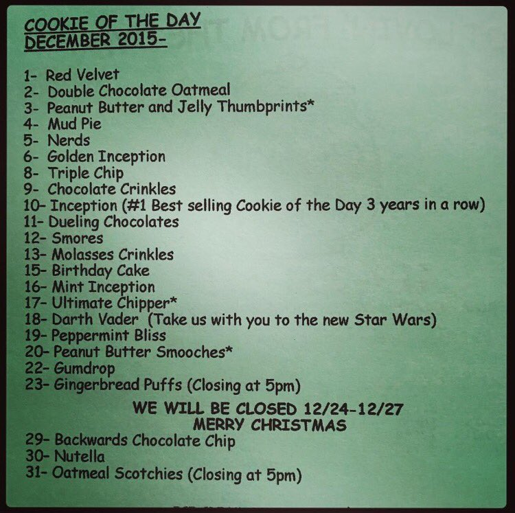 Cookie Jar Bg Awesome The Cookie Jar BG On Twitter December 60 Cookie Of The Day List