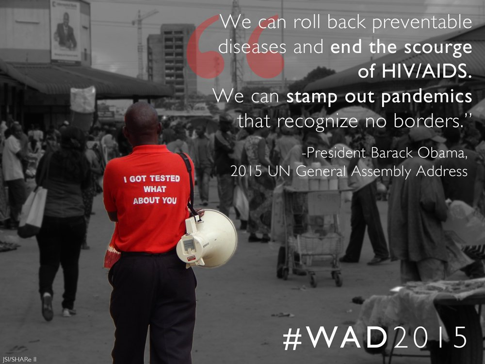 Today, we remember those we've lost to #AIDS &celebrate the lives of those living with #HIV. #WorldAIDSDay #WAD2015 https://t.co/EcS4NBjpmy