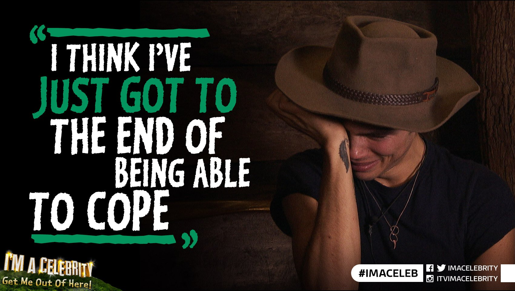 Poor @higeorgeshelley is having a down day in the Jungle... #ImACeleb https://t.co/Yo1TwNaCET