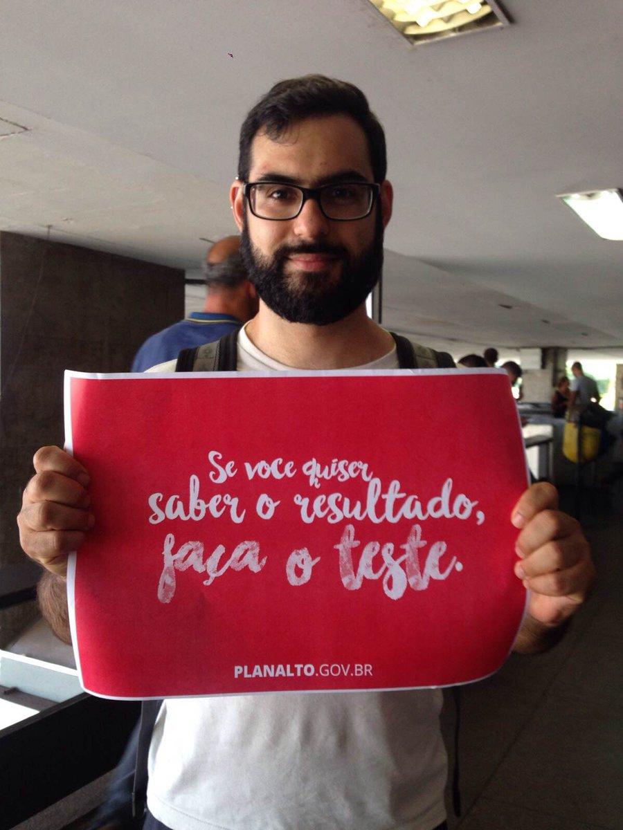 Confira no @Snapchat do PalacioPlanalto como fazer o teste gratuito de HIV/Aids! #PartiuTeste #VamosFalarDeHIV
