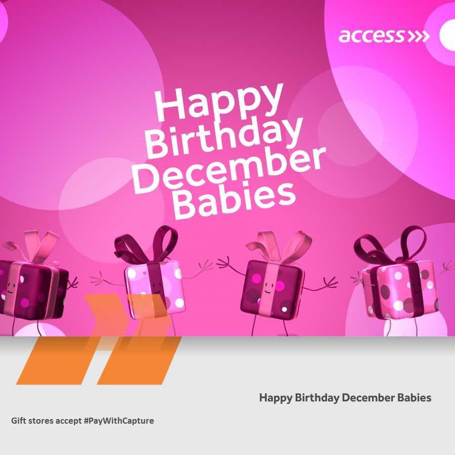 Happy Birthday December Access Bank Plc...