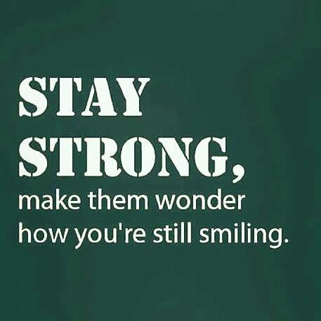 Be Inspired On Twitter Stay Strong Make Them Wonder How Youre