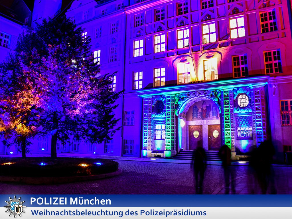 Weihnachtsbeleuchtung München.Polizei München On Twitter Weihnachtsbeleuchtung Des