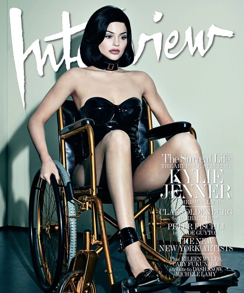 As someone in a wheelchair @KylieJenner @InterviewMag, this is offensive. My chair is not haute couture. https://t.co/y3sBaiJzIH