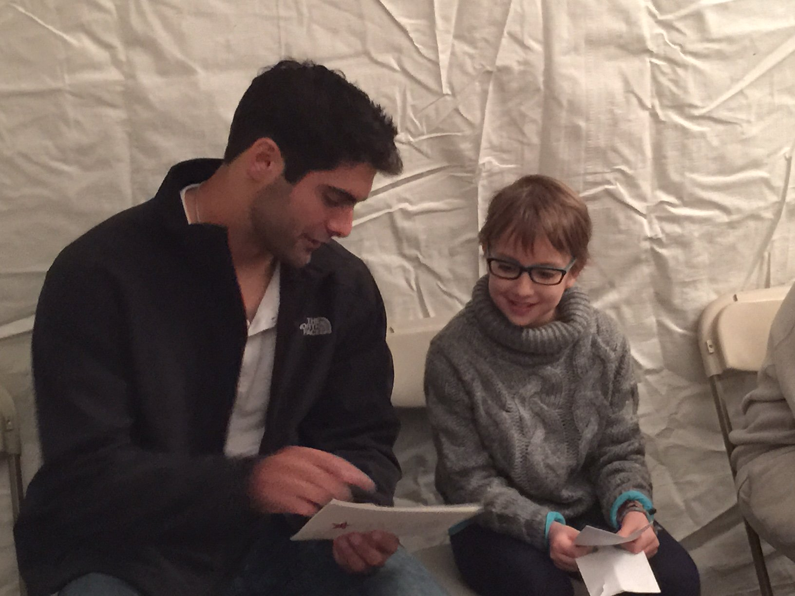 "Jimmy Garoppolo Brothers >> Make-A-Wish Mass RI on Twitter: "".@Patriots @JimmyG_10 joined wish kid Eleanor, 9, Friday for ..."