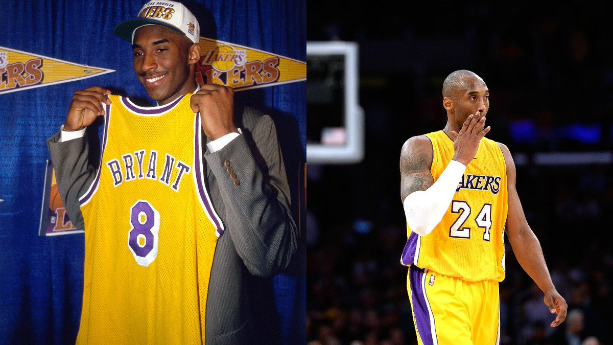 9243815db361 Lakers debating which Kobe Bryant jersey number to retire