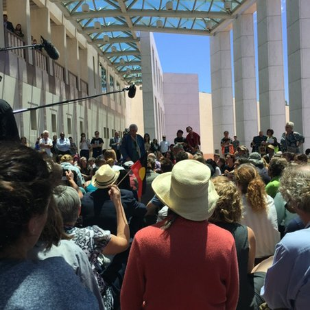 Aboriginal voice to protect our land & future being heard at Australian Parliament #peoplesparliament #auspol https://t.co/vehxSi1EfG