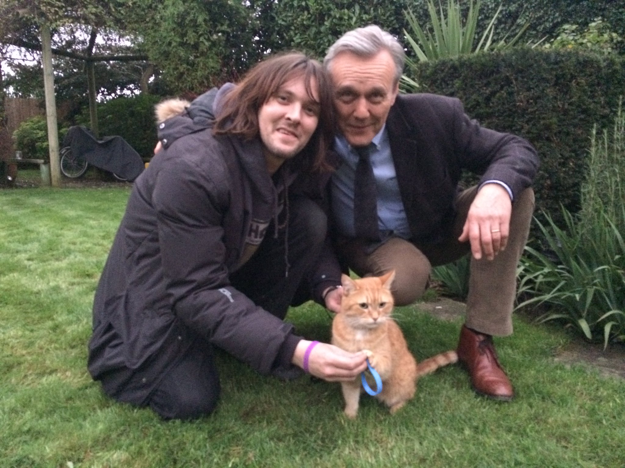 """Person With Cat Head >> CooltobeKind on Twitter: """"James Bowen, Street Cat Bob & Anthony Head know it's Cool to be Kind ..."""