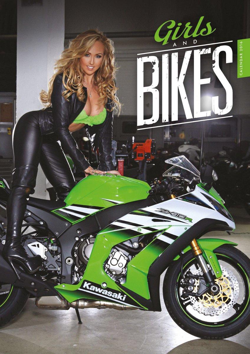 naked girls on motorbike calendar