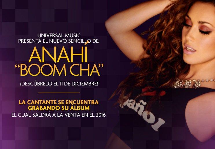 #Anahí les tiene una gran sorpresa el 11 de diciembre, se llama #Boomcha