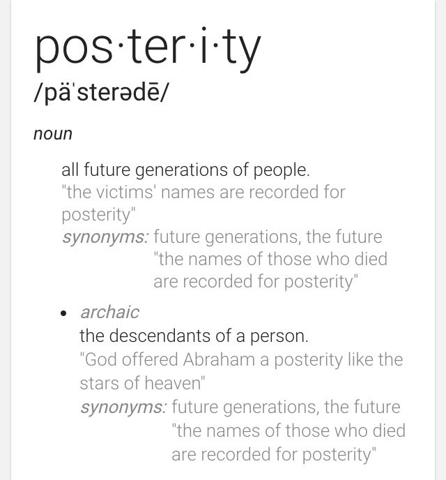 Posterity Definition