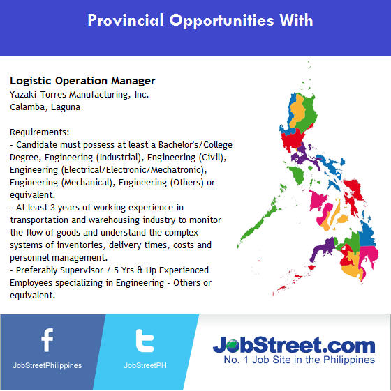 JobStreet PH On Twitter A Company In Laguna Is Looking For