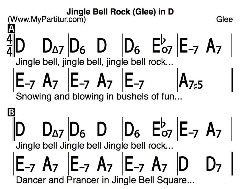 Mypartitur On Twitter Jingle Bell Rock Chords In D Lyrics Id