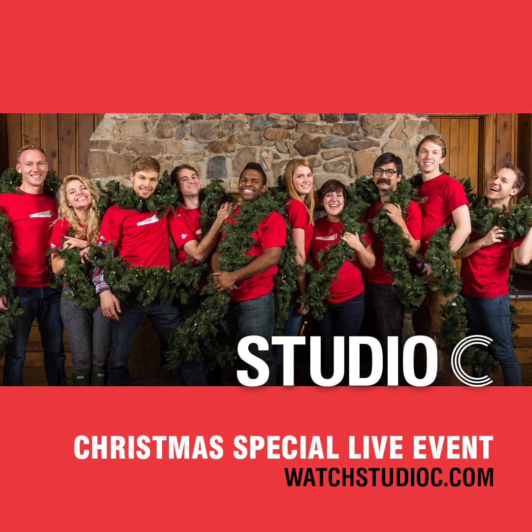 Studio C Christmas.Studio C On Twitter Christmas Special Live Event On Dec 7