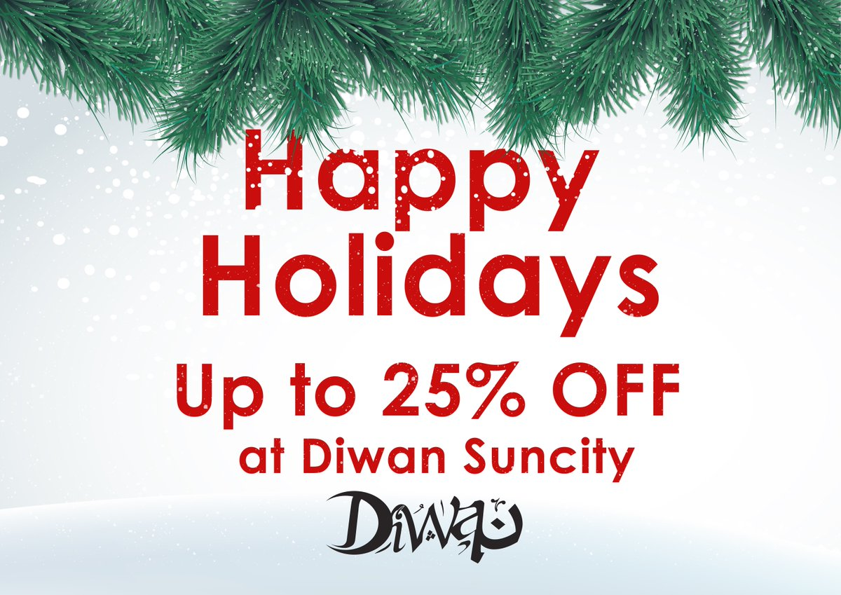 Don't miss our #DecemberOffer, up to 25% OFF at #DiwanSunCity . Hurry up, it is only till end of December ;) https://t.co/Mgn9ozRqkK