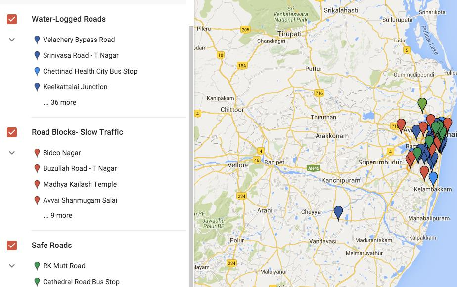 This Google Maps Layer Assists People In Chennai Avoid Waterlogged Areas https://t.co/eVbkkV8b9l https://t.co/I3hmCjhQaW