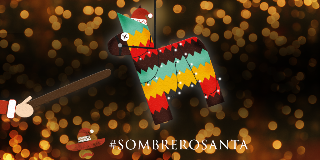 We're giving away some Xmas gifts! Just RT to swing at our festive piñata for the chance win a prize! #SombreroSanta https://t.co/0c0E7Xo7La
