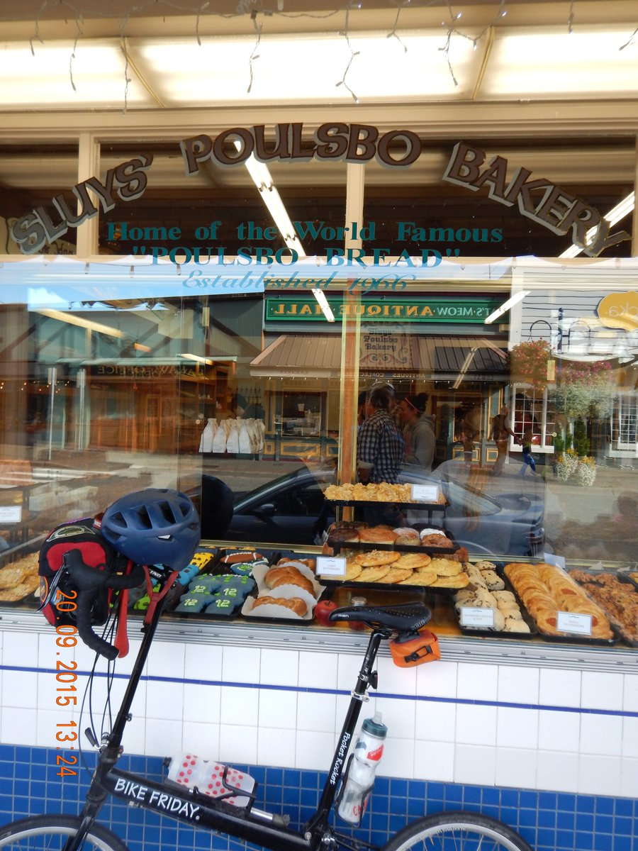 Nordic bread & sweets from Sluys' Poulsbo Bakery on bicycle tour