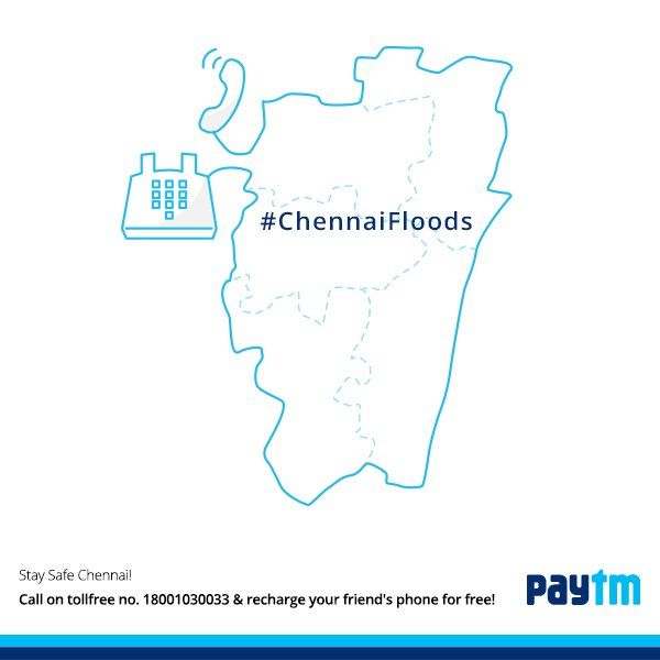 Stay Safe Chennai! Call on 18001030033, recharge your friend's phone for free https://t.co/JKiolmpBHw #ChennaiFloods https://t.co/nHNnvB2FLU