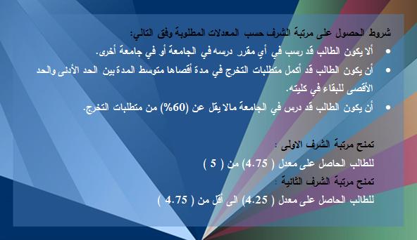 مرتبة الشرف لطلاب وطالبات التعليم
