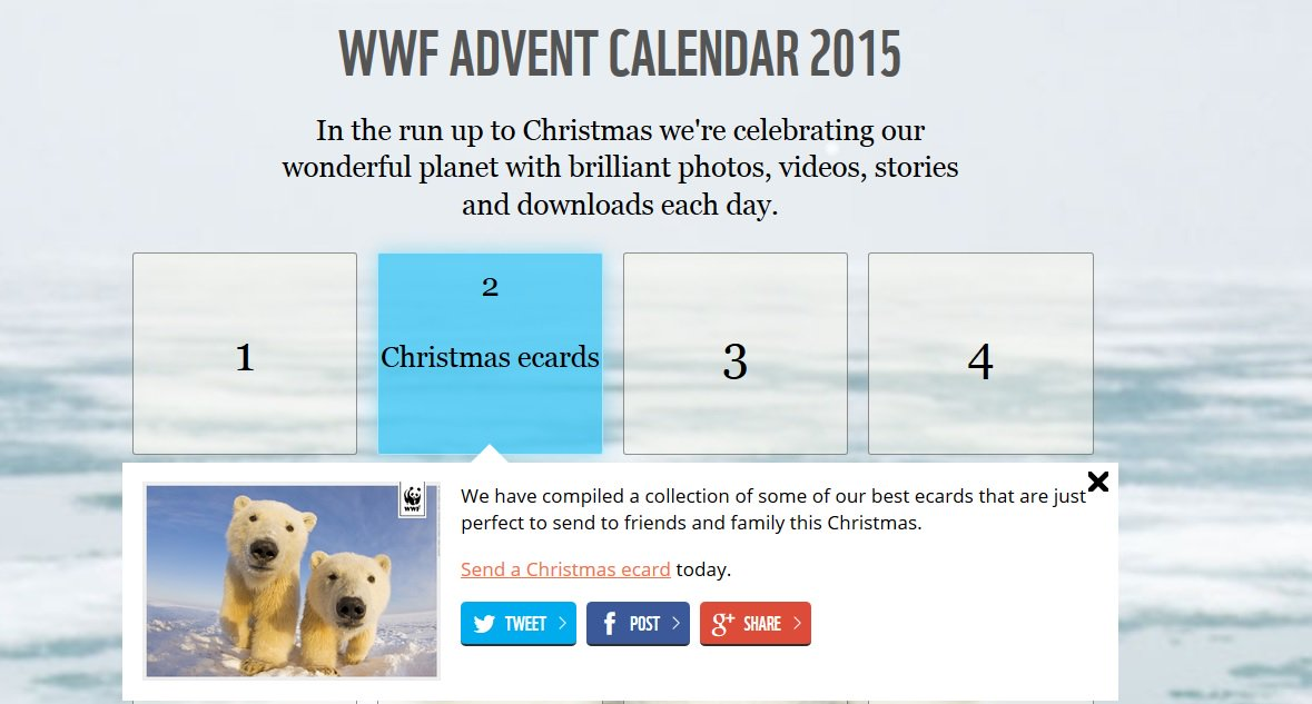 Love the @wwf_uk #AdventCalendar - https://t.co/I4Xvw54z9F https://t.co/uJviv4PcM9