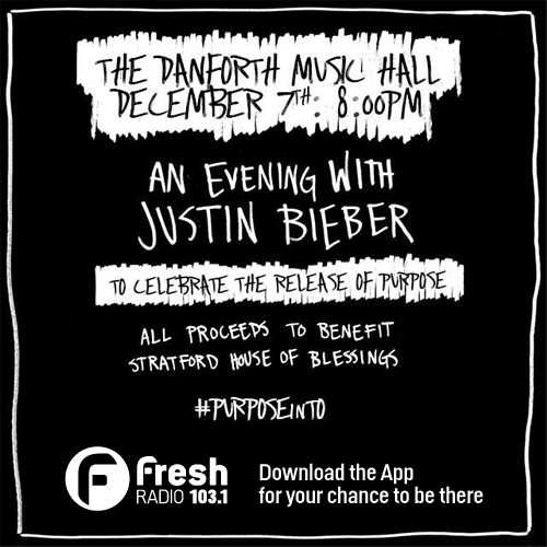 K&I~another reason to get our app! Win tix to @justinbieber #acousticconcert @TheDanforthMH #PURPOSEinTO https://t.co/wj0dAejDat