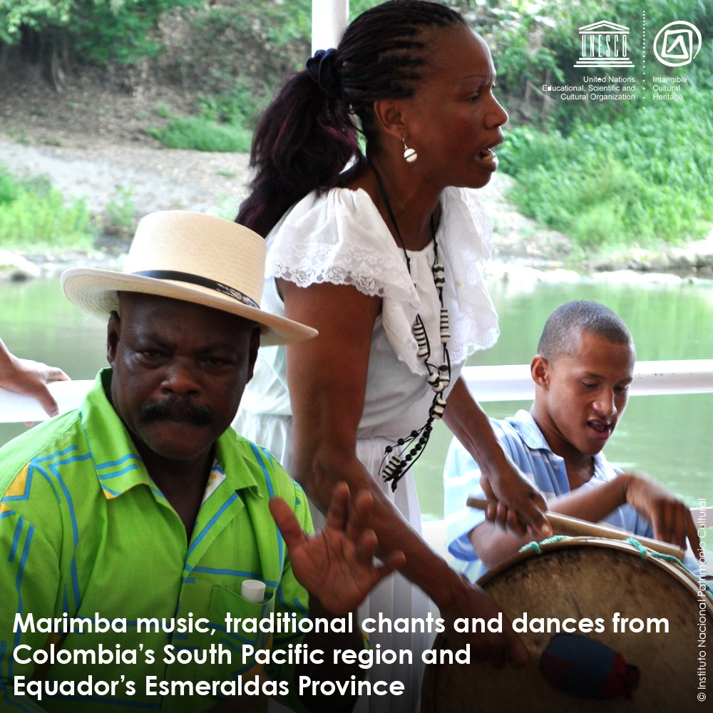 Just inscribed on the Representative List of #IntangibleHeritage https://t.co/oGN93YbAvu #Colombia #Ecuador
