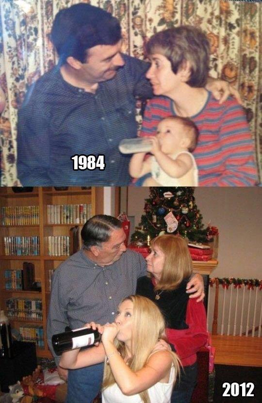 写真と写真が28年変わらぬ家族愛を紡ぐ‼️