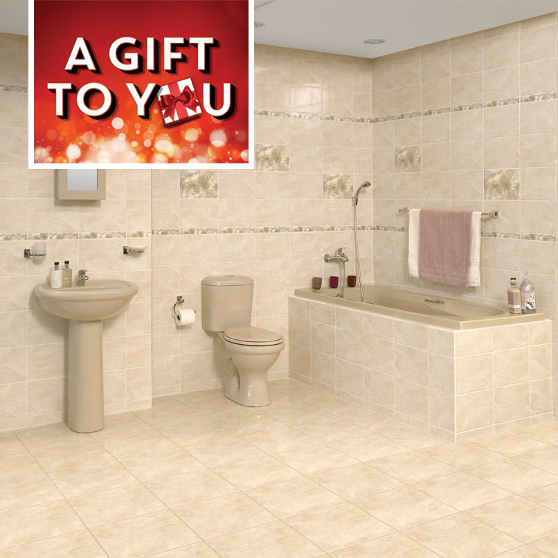CTM On Twitter Get The Full Colour Coordinated Bathroom With This Adorable Beige Tiled Bathrooms Set