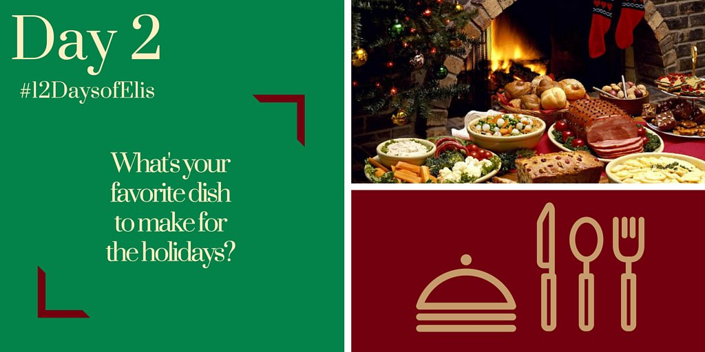Day 2 of #12DaysofElis: RETWEET & reply with your answer for the chance to #WIN an Eli's Cookbook & Apron. #giveaway