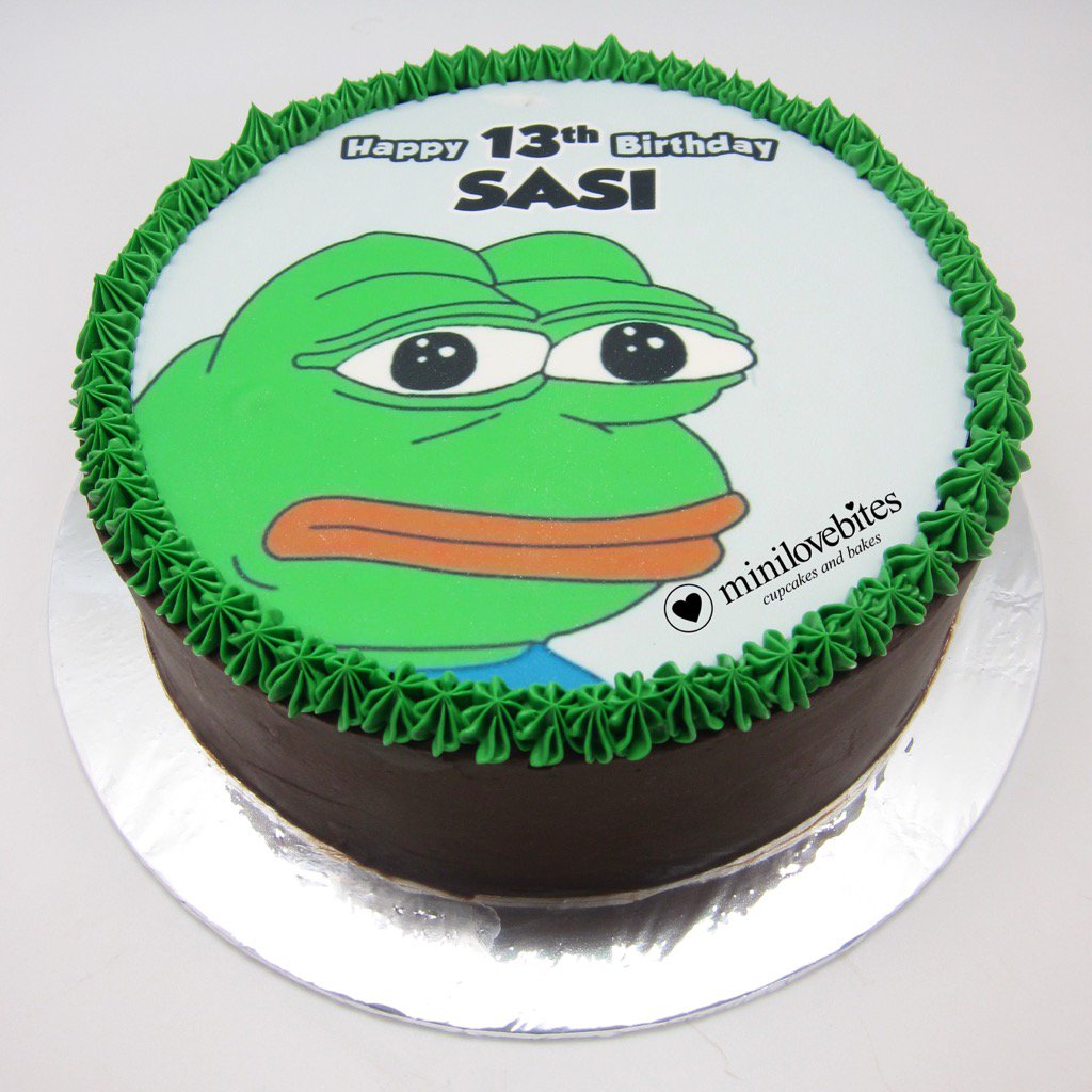 Miraculous Minilovebites On Twitter Its Pepe The Frog Birthday Cake Email Funny Birthday Cards Online Necthendildamsfinfo