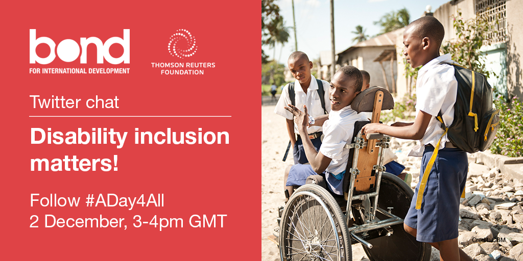 Thumbnail for Disability inclusion matters Twitter chat #ADay4All