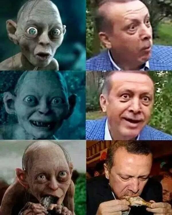 Pria di Turki diadili karena membandingkan Erdogan dengan Gollum