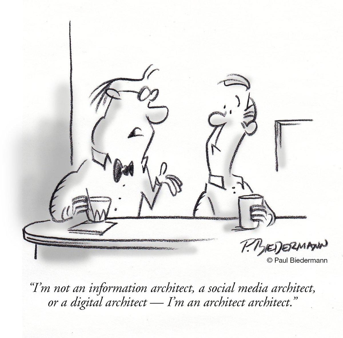 Running into a lot of architects these days? https://t.co/YOct4cmLWS #marketing #cartoon #architecture