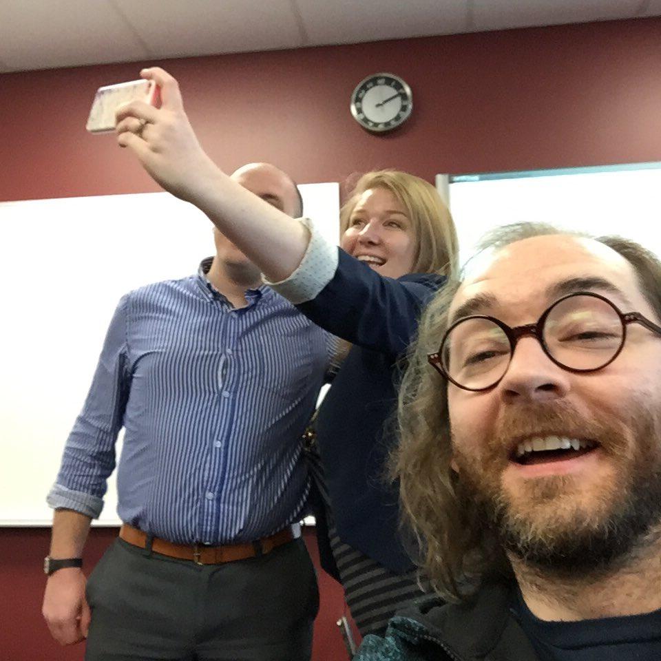 Selfie-bombing someone's selfie! #HESM15 https://t.co/hzGO7p7JyI