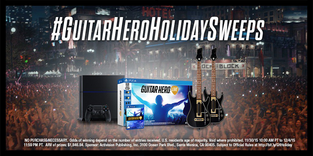 Everything you need to rock out this holiday… RT NOW for a chance to win a #ps4, 2-guitar bundle, & Hero Cash! https://t.co/EuyEi4qiCQ