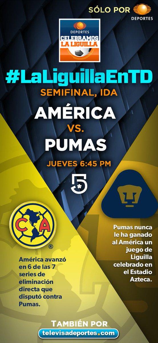 América vs Pumas por Televisa Deportes