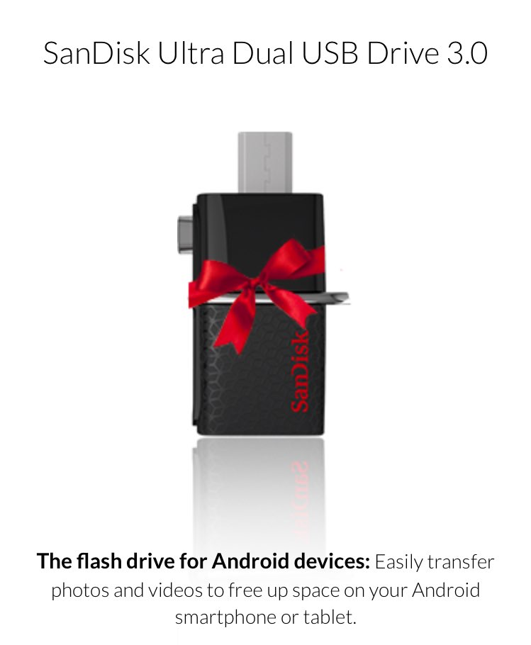 Giving away 75 of @SanDisk latest flash drives for iPhones & androids. Click here - https://t.co/ql8SGXNj6G (RT)