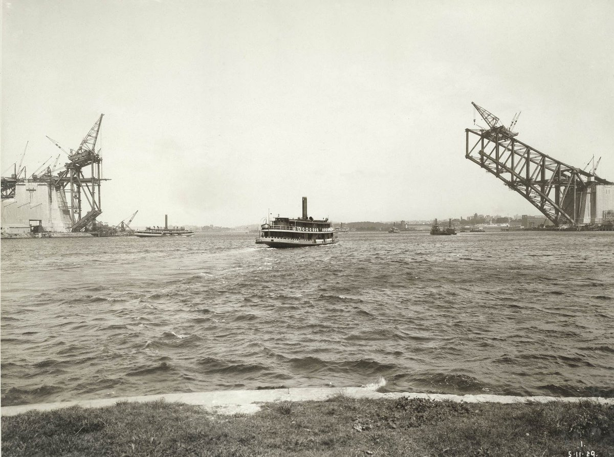 #SydneyHarbourBridge under construction, 1929. View from McMahon's Point.  Digital ID 12685_a007_a00704_8729000017r https://t.co/w3ywa3ivxF