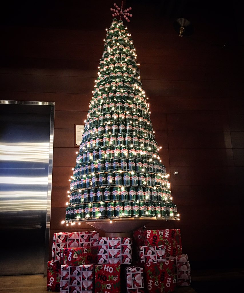How many #WinterWarmer cans did it take to make this tree? RT & guess for a chance to win a $25 Harpoon gift card! https://t.co/a3fRuIZirr