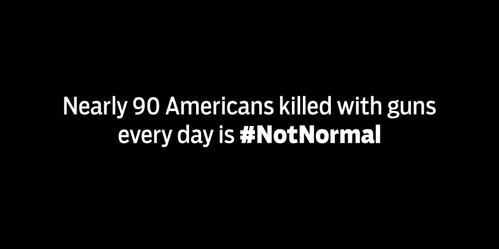 Americans are killed with guns every day, in every community. This is #NotNormal #SanBernadino https://t.co/IuUTpGIyoH